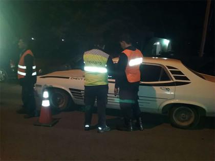 Control de tránsito de esta madrugada: Retención de vehículos por alcoholemia