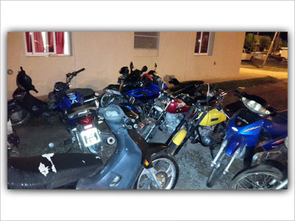 Secuestran 20 motos en operativos en las últimas horas