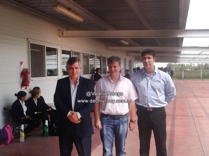 El Intendente Britos visitó la Escuela de Policías de Chivilcoy