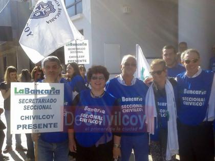 Bancarios: En Chivilcoy, alto acatamiento de la medida de fuerza