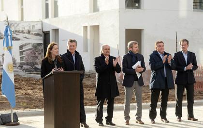 Mauricio Macri y María Eugenia Vidal anunciaron el nuevo Plan Nacional de Vivienda y Hábitat en Ezeiza