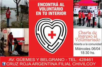 Charla para interesados en integrar el voluntariado de la Cruz Roja