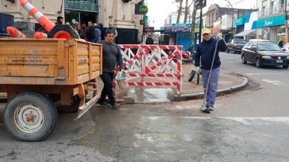 Reparación de rampas accesibles en el centro de la ciudad