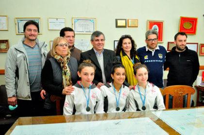 El Intendente recibió a las patinadoras que participarán del Campeonato Panamericano en Brasil