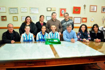 El intendente recibió a las patinadoras que participaron del Campeonato Panamericano en Brasil