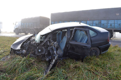 Fatal accidente ocurrido en Ruta 51, a la altura de Ayarza