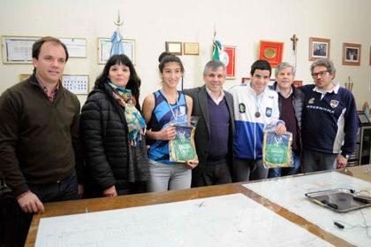 El intendente distinguió a deportistas chivilcoyanos