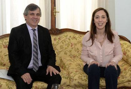 María Eugenia Vidal se reunió con el intendente de Chivilcoy, Guillermo Britos