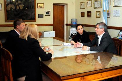 El intendente Britos se reunió con autoridades del Banco Patagónia