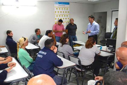 Seguridad: Reunión con personal de inspectores y planificación de trabajo