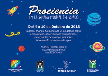 4 al 10 de octubre: Prociencia, en la Semana Mundial del Espacio