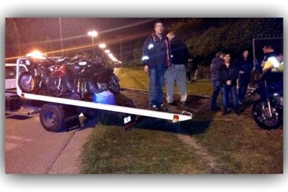 """En un exitoso operativo en la zona de """"Las Palmeras"""" secuestraron alrededor de 40 motos"""