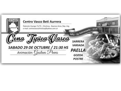 El Centro Vasco Beti Aurrera anuncia actividades de los próximos días
