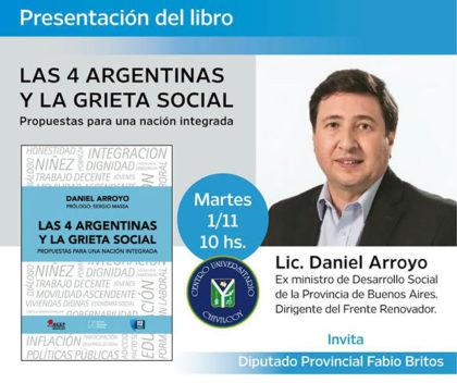 Daniel Arroyo disertará junto a Fabio Britos en Chivilcoy