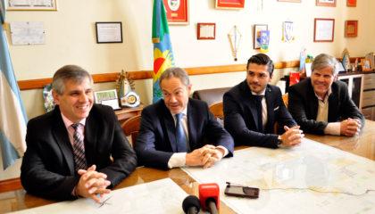 Hoy en Chivilcoy:  El Ministro de Justicia Bonaerense Gustavo Ferrari con el Intendente Britos