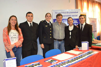 Policía Local en la Feria Expo Vocacional Ocupacional