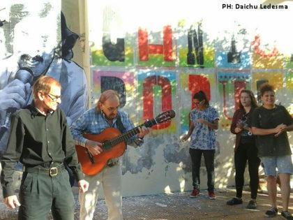 """Mural a """"Chico Sprint"""" por el artista San Spiga y alumnos de Artes Visuales"""
