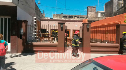 Principio de incendio en un local céntrico