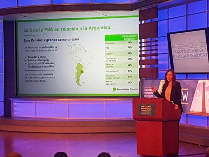 Vidal en EEUU: Financimiento para obras en el Río Salado