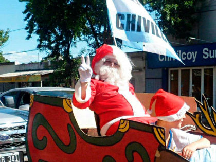 Este sábado Papá Noel recorre los barrios junto a la JP
