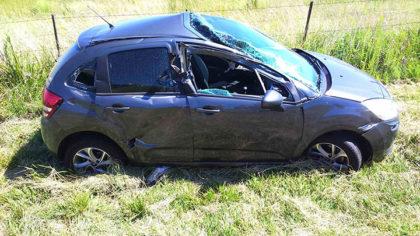 Accidente en el km. 135,500 de la Ruta 5 con un herido leve