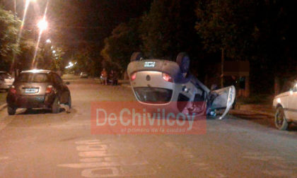 [ACTUALIZAMOS] Esta madrugada choque y vuelco en Pirán 533. Informe policial