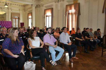 Capacitación de Defensa Civil en la cuidad de Bragado
