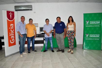 El SUM de La Rica recibió cinco computadoras