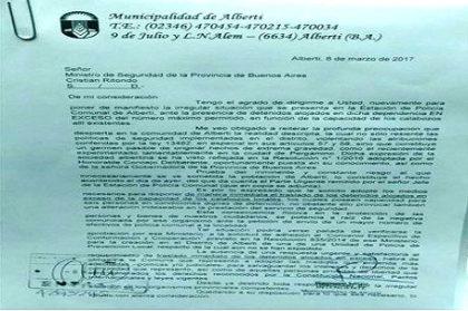 El Intendente de Alberti manifestó su preocupación por el exceso de presos en la comisaría