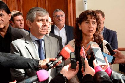 El intendente Guillermo Britos recibió a la ministra de Salud, Zulma Ortiz