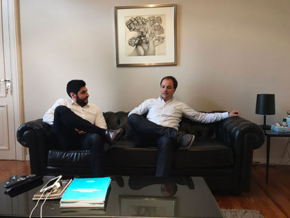 El concejal Joaquin Oteiza se reunió con el Diputado Nacional Facundo Moyano (FR)