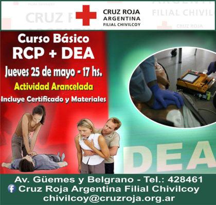 Cruz Roja: Curso de Reanimación Cardio Pulmonar con uso de Desfibrilador Externo Automático