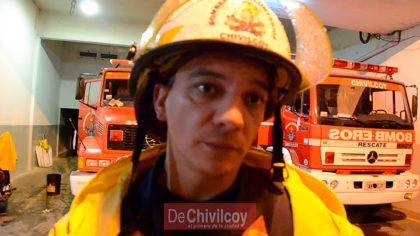 Bomberos Voluntarios: Informe de la tormenta 3er Oficial Federico Díaz [VIDEO]