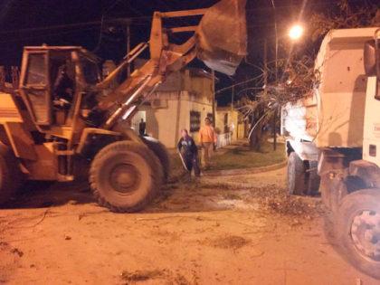 La Municipalidad intensifica la recolección de ramas y limpieza de calles