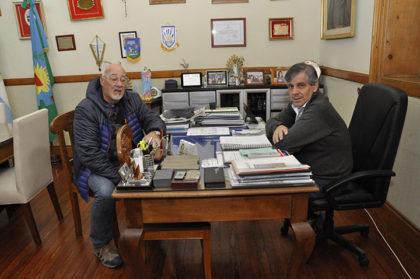 El intendente Guillermo Britos recibió al presidente del Centro Comercial e Industrial