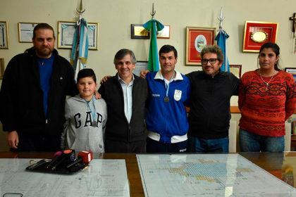 El intendente recibió a campeones del Torneo Nardelli de tiro