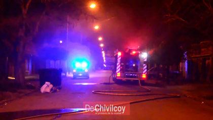 En la madrugada de hoy se produjo un incendio en Brandsen y Pirán
