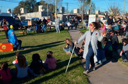 Seguridad realizó actividades recreativas junto a los vecinos del Barrio Verde