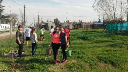 Entrega de plantas a diferentes clubes de nuestra ciudad
