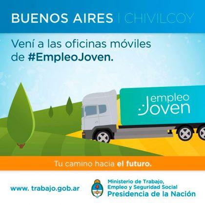 El miércoles llega a Chivilcoy el camión del Empleo Joven