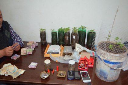 Secuestran un kilo y medio de marihuana en un allanamiento