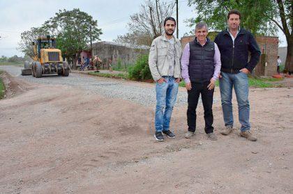 El intendente recorrió la obra del barrio Las Marías