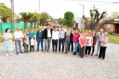 El barrio Nuevo Rivadavia cuenta con 40 cuadras de piedra caliza