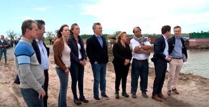 Macri y Vidal recorrieron las obras de ensanche y profundización del Río Salado [Video]