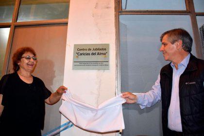 """El intendente Britos acompañó al Centro de Jubilados """"Caricias del Alma"""" en la inauguración de su sede"""