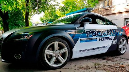Un Audi TT recuperado del narcotráfico será patrullero de la Policía Federal