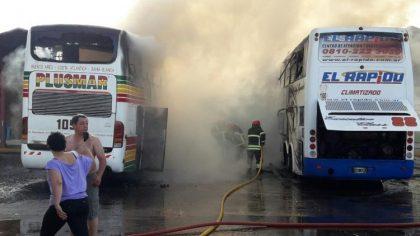 Bragado: Una cámara de seguridad detectó la presencia de un sujeto minutos antes del incendio de los micros