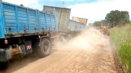 Mejoras en caminos de Palemón Huergo