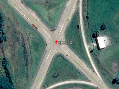 Se produjo un accidente de tránsito en la intersección de las Rutas Provinciales 30 y 51
