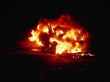 Un herido de gravedad en violento choque e incendio sobre la Ruta 5 [Video]